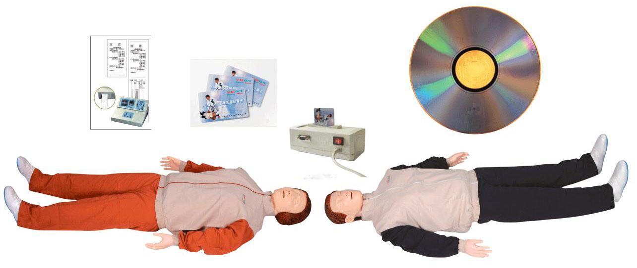 高级自动电脑心肺复苏模拟人(IC卡管理软件)该系统在GD/CPR300S-A基础上进行心肺复苏功能的升级。其核心模块包括模拟人、心肺复苏显示屏、学员信息IC卡、创伤四肢模块,可进行心肺复苏、四肢创伤伤口等急救操作。