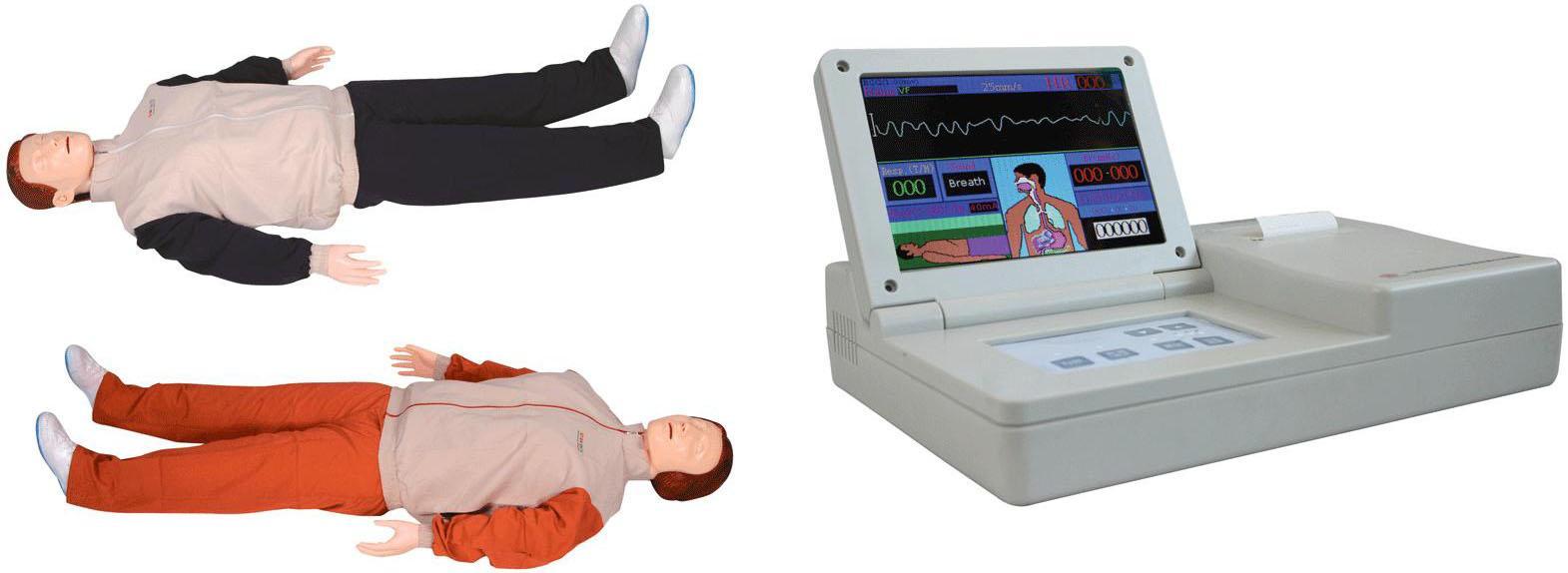 高级自动电脑心肺复苏模拟人(大屏幕液晶彩显、IC卡管理软件)该产品在GD/CPR10400的基础上,功能全面升级,大屏彩晶显示,更加生动形象,结合2010国际心肺复苏标准,强化胸外按压的重要性,使用新一代材料,更加符合现实临床CPR操作要求。