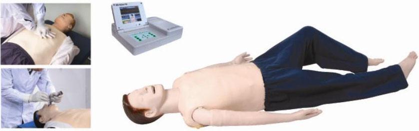 本系列产品提供ALS急救技能训练操作,主要功能是心肺复苏(CPR)和气道管理,其核心模块由全身人体模型、大屏幕彩显液晶电脑显示器组成,是简易、实用的ALS培训工具。