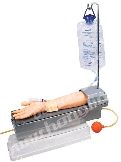 旋转式桡动脉穿刺手臂模型