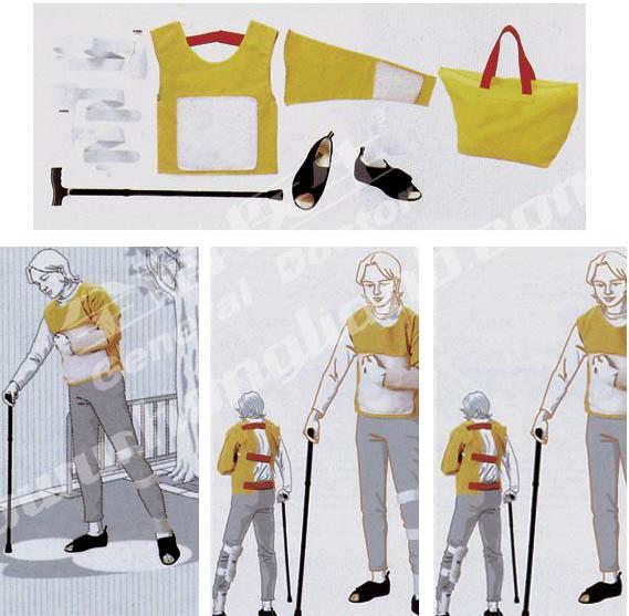 高级着装式老年偏瘫护理模拟服