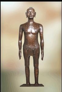 仿古针灸铜人高158cm